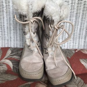 FINAL PRICE little girls suede feel winter boots
